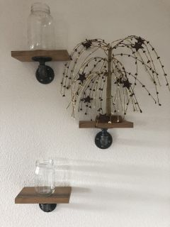 Decorative pipe shelves
