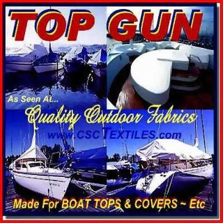 "Buy TOP GUN 62""w FABRIC 5yds UVR WR ~ for COVERS Boat BIMINI Marine OUTDOOR Prof UVR motorcycle in Indianapolis, Indiana, US, for US $134.77"