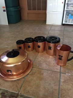 Vintage west bend copper aluminum set
