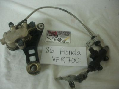 Buy 86-87 Honda VFR-700 Rear brakes, complete. Good Used OEM motorcycle in Terrell, Texas, US, for US $69.95