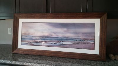 Framed beach picture, Byron