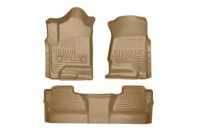 Purchase Husky Liners 98233 2014 Chevy Silverado Tan Custom Floor Mats 1st, 2nd Row motorcycle in Winfield, Kansas, US, for US $170.95