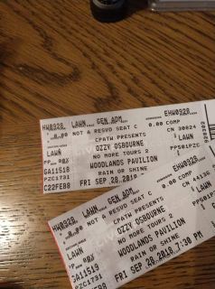 Pair of Ozzy tickets