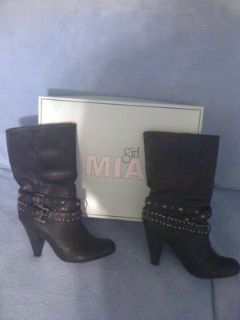 REDUCED!New,sz.9,Mia Girl,Black Leather Boots
