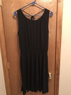 Women's black dress, size large, Old Navy, worn once like new