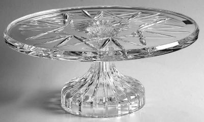 New, Never Used Waterford Footed Crystal Cake Plate