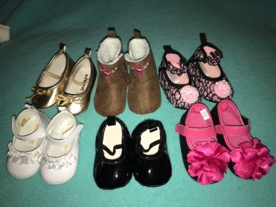 Infant Girl Shoes-lot of 6 pairs