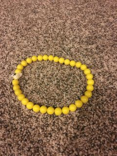 Stretchy Yellow Girls Necklace
