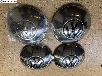 VW Big Large Logo Emblem Hub Cap - Set of 4