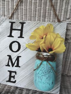 """""""HOME"""" 12X12 Sign"""