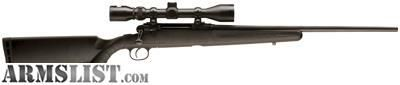 """For Sale: NEW IN BOX SAVAGE AXIS XP 7MM-08 22"""" W/3-9X40 MATTE/BLK SYN BOX MAG"""