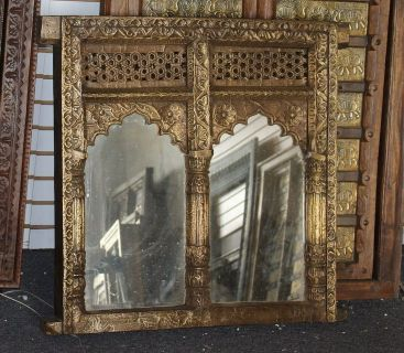 ANNUAL CLEARANCE SALE!!Gothic Golden Mirror Double Arched Frame Eclectic Wall Decor
