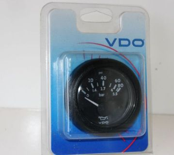 "Sell NEW VDO V3501103 Engine Oil Pressure 12VDC 2-1/16"" Gauge 80 psi Supra Boat motorcycle in Daytona Beach, Florida, United States, for US $28.98"