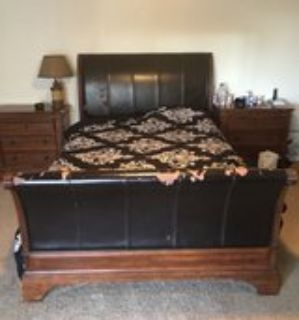 queen size bed frame with head and foot board