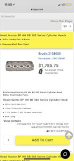 Brodix headhunter 383 cylinderheads