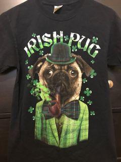 Irish pug shirt size small