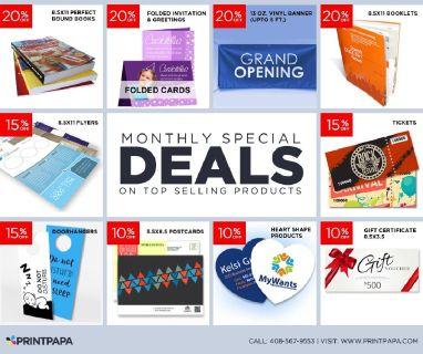 PrintPapa brings you many surprises this month!