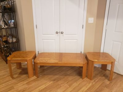 Coffee Table & (2) Endtables