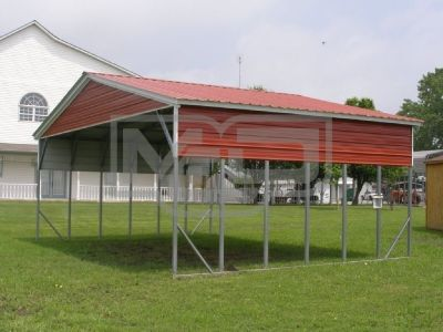 Buy Affordable Vertical Metal Carport Kits with Wide Panels