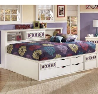 Ashley Furniture full size bed frame and matching dresser with mirror $500 obo