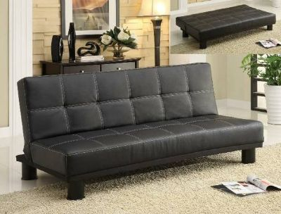 BRAND NEW! RETRO LEATHER SOFA BED SLEEPER!