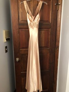Sexy gold gown