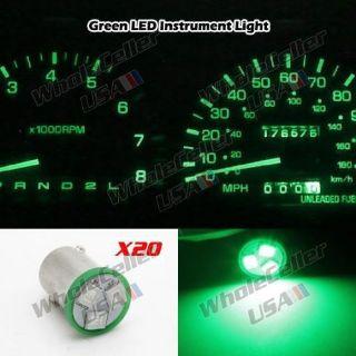 Buy 20pcs Green Ba9s LED Bulb 1815 1895 Instrument Gauge Cluster Indicator Light 12V motorcycle in Milpitas, California, United States