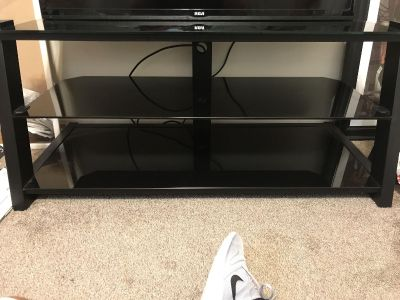 Black smoke glass TV Stand
