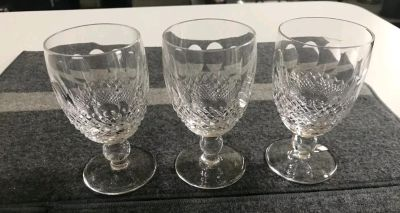"""8 Waterford Crystal Colleen Short Stem Claret Wine Glass 4 3/4"""""""