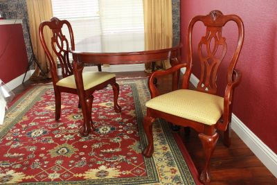 Dining Table Set with 6 chairs with China Cabinet