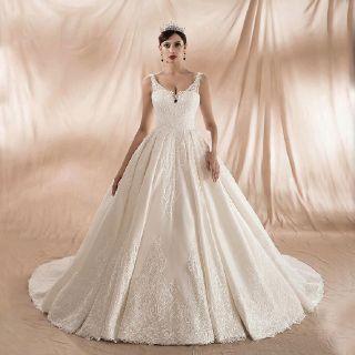 Harper's A Line Appliqué Wedding Dress