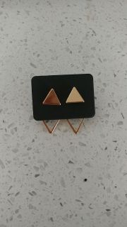 Assymetric Triangle earrings