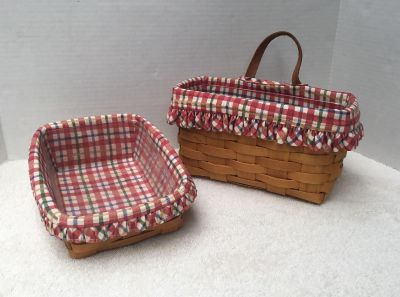 2 Longaberger Baskets with Liners