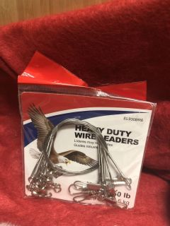 Brand New In Package Heavy Duty 30 lb. Wire Leaders Eagle Claw Brand