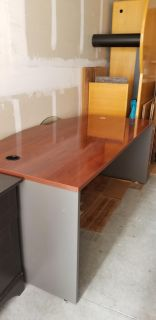 Bowfront executive office desk