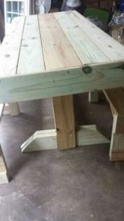 Newly Build Rustic Looking Table