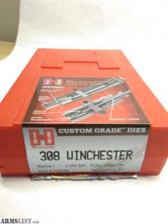 For Sale: 308 Winchester Hornady Custom Grade Dies 2 Die Set