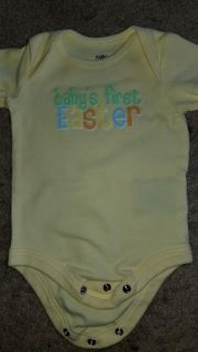 GC size 0-3 months BABYS FIRST EASTER onesie
