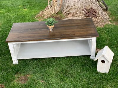 Shabby cottage style coffee table