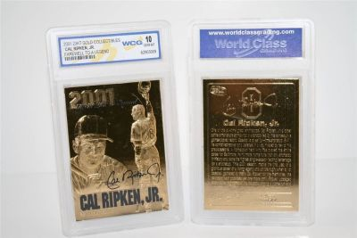 "*** CAL RIPKEN JR 23KT Gold Card 2001 ""Farewell to a Legend"" Graded 10 ***"