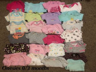 0/3 months onesies and dresses and pants