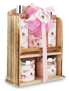 A Spa Gift Basket With Lovely Pomegranate