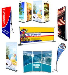 Custom Printed Fabric and Vinyl Banners