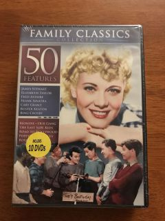 50 NEW DVDS - FAMILY CLASSICS COLLECTION - 10 DISC SET