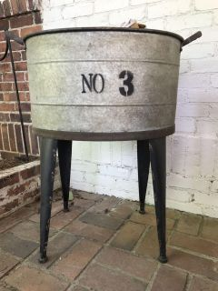 Outdoor rustic beverage stand/ tub