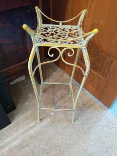 Rustic little plant stand