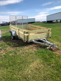 2019 Chilton 6X10 WITH RAMP AND WOOD SIDES Trailer Francis Creek, WI