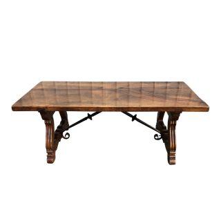 Spanish Revival Walnut Coffee Table