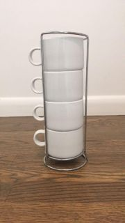 Crate and Barrel stacking mugs