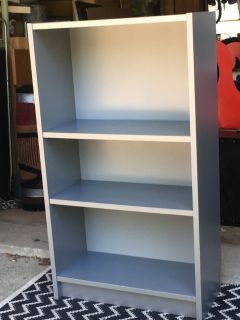 Grey Laminate Bookcase
